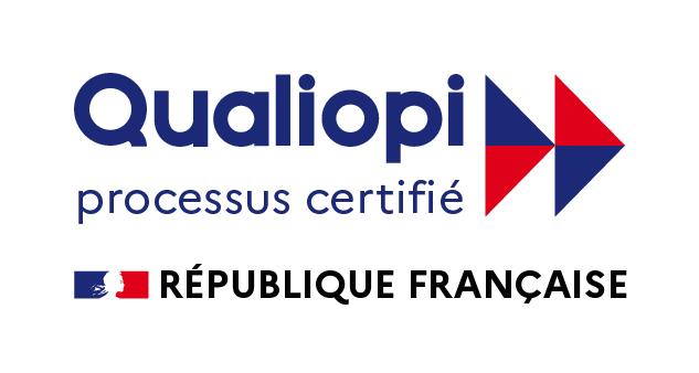 Un logo de Certification Qualiopi