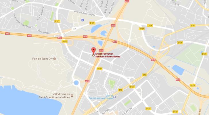 Plan d'accès aux locaux de Smart Formation à Montigny, spécialiste de la formation informatique et langue.