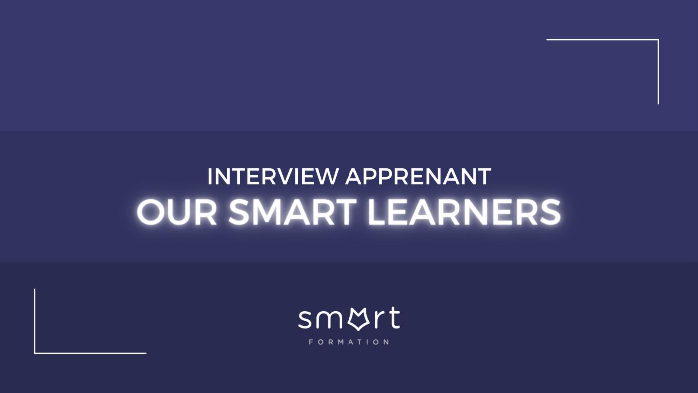 une bannière bleu pour our smart learner