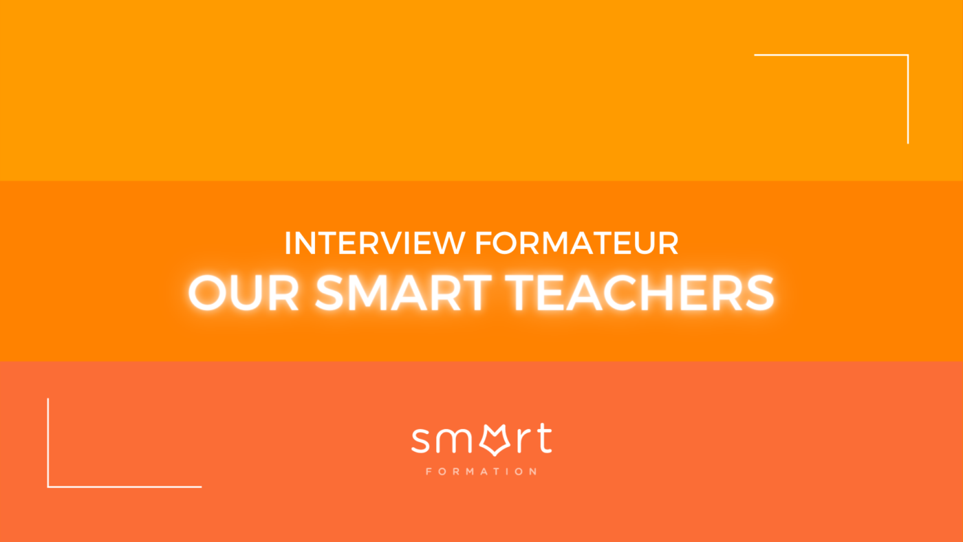 une bannière orange pour our smart teacher
