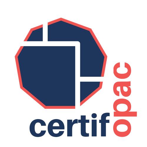 un logo Certifopac